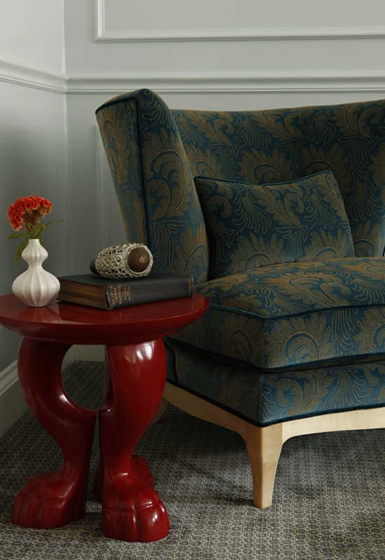 custom interior, residential design, mix of styles, modernism, custom design, quality, lacquered table
