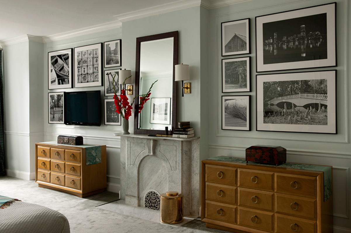 authentic interior design, bespoke interiors, family heirloom furnishings, artwork, symmetry, mid-century