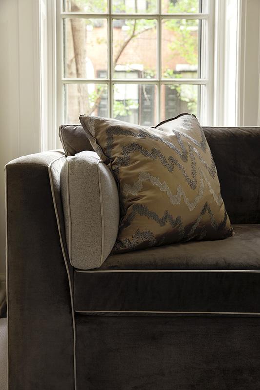 condo interior design, rittenhouse square, residential, club chair, coffee table