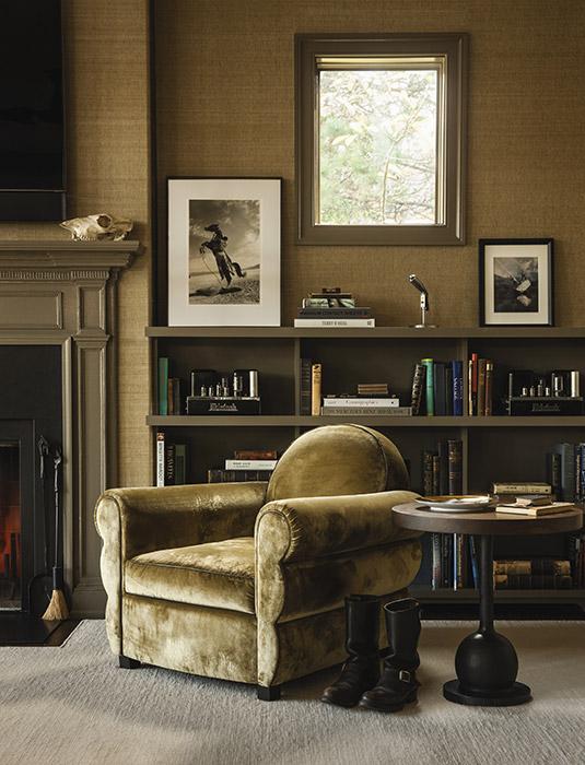 country house, classic, interior design, fireplace, residential, custom furniture, velvet, furniture