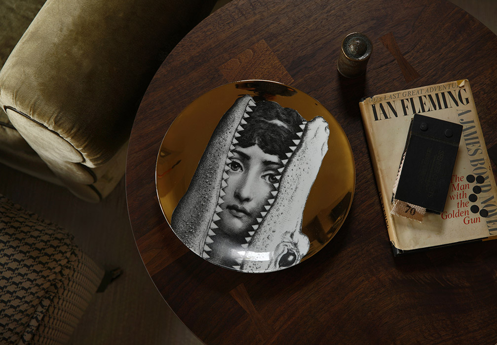 interior home design, bespoke interiors, details, furniture, fornasetti, found objects