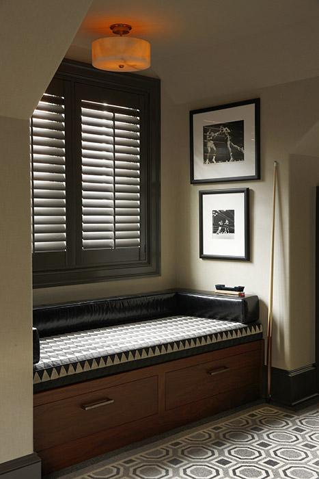banquette detail, classic design, pragmatic, house interior, quality, flooring, texture