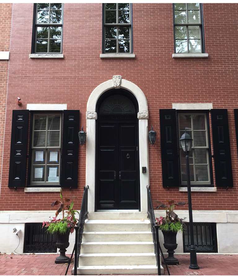 Extra wide townhouse on Philadelphia's most historic block in Rittenhouse Square, generously scaled with luxurious proportions.