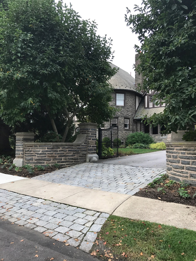 Set in the mainline of Philadelphia, a beautiful stone Tudor house. Practical yet sophisticated. Designer touches abound; a contemporary feel in a traditional space.